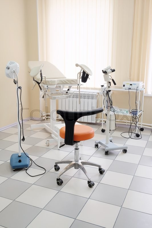 Stock image of 'Gynecological chair in gynecological room'