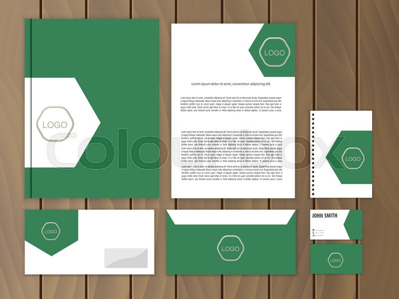 creative corporate identity documentation for business vector