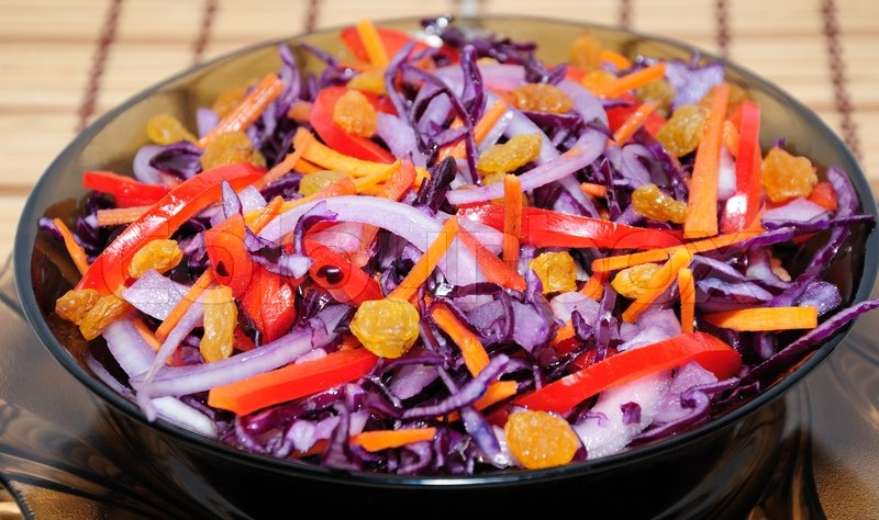 Салат с синей капусты фото