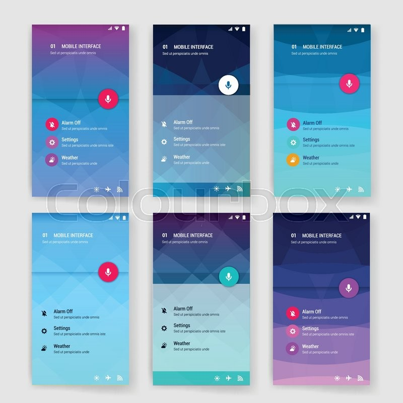 Modern User Interface Screen Template For Mobile Smart