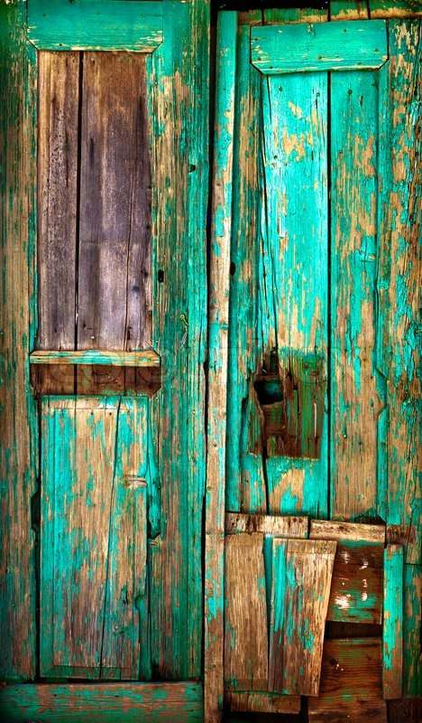Old Wooden Door Old Painted Wooden Boards Old Paint