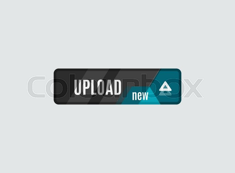 Stock image of 'Upload button, futuristic hi-tech UI design. Website, mobile applications icon, online design, business, gui or ui'
