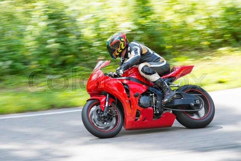 Stock image of 'Dynamic and realistic motorbike racing'