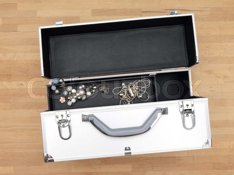Stock image of 'A close up shot of a jewellery case'