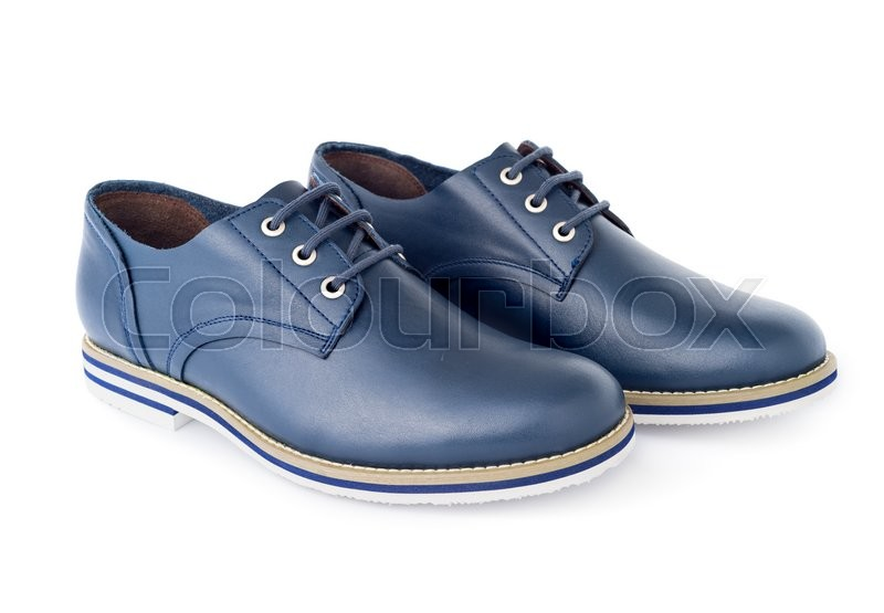 Stock image of 'Men's fashion shoes blue, casual design on a white background isolated'
