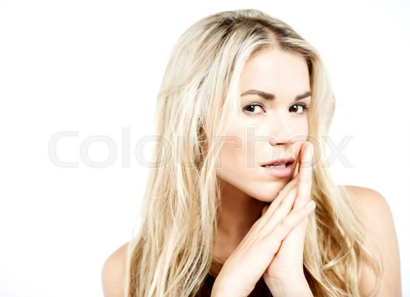 Stock image of 'Sensual pose of pretty young woman '