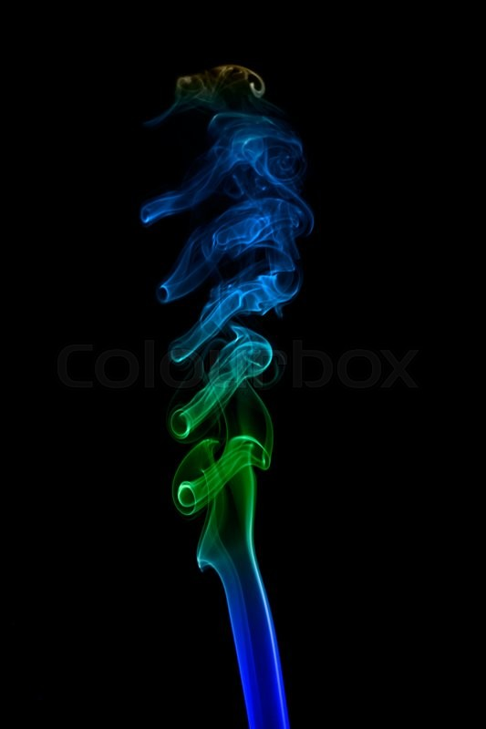 Stock image of 'Abstract smoke isolated on black background'