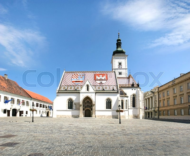 Stock image of 'St. Mark's Church is one of the oldest building monuments in Zagreb Croatia'