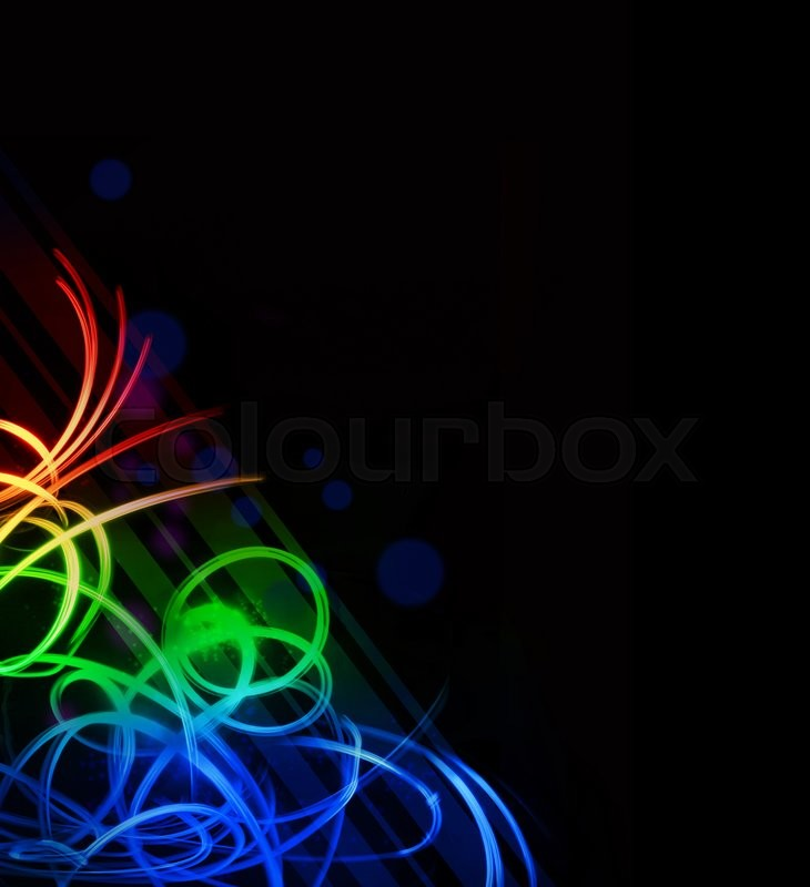 Stock image of 'Abstract colorful illustration on a black background14068895