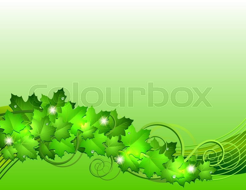 Stock image of 'Nature background with green fresh leaves .'