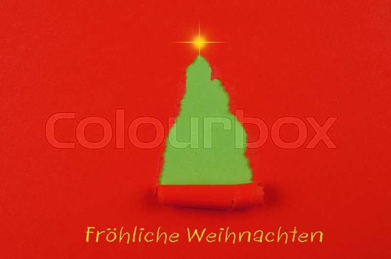 Stock image of 'German Merry Christmas card'