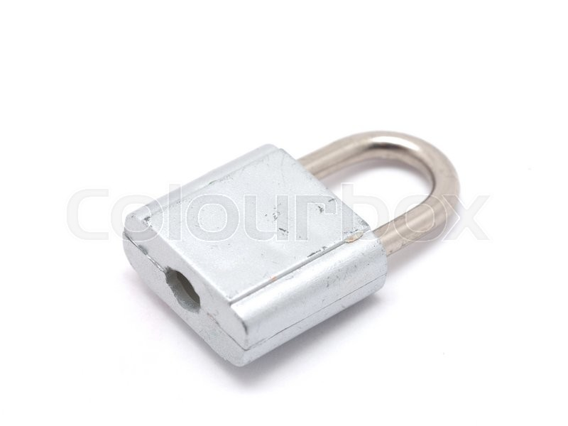 Stock image of 'Lock on a white background'