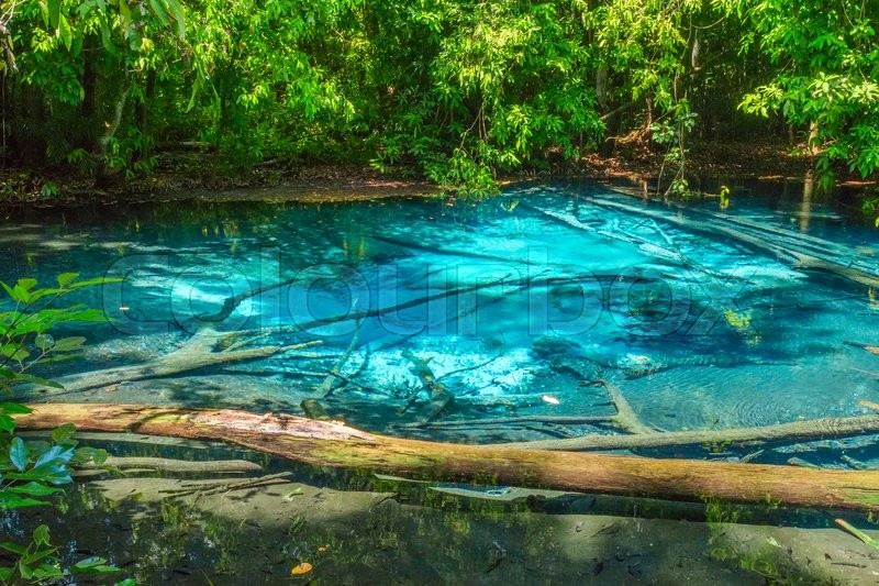 Stock image of 'Blue Pool Lagoon in Krabi, Sra Morakot, Thailand'