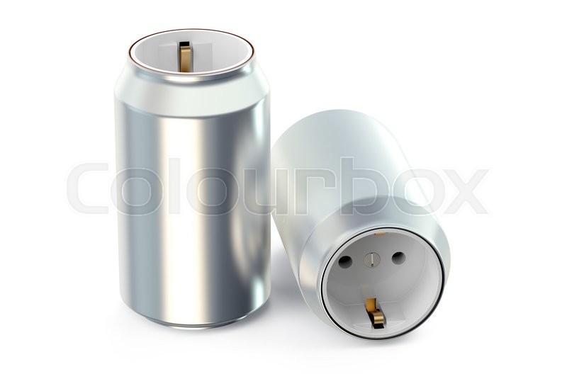 Stock image of 'Drink cans with socket, energy drink concept'