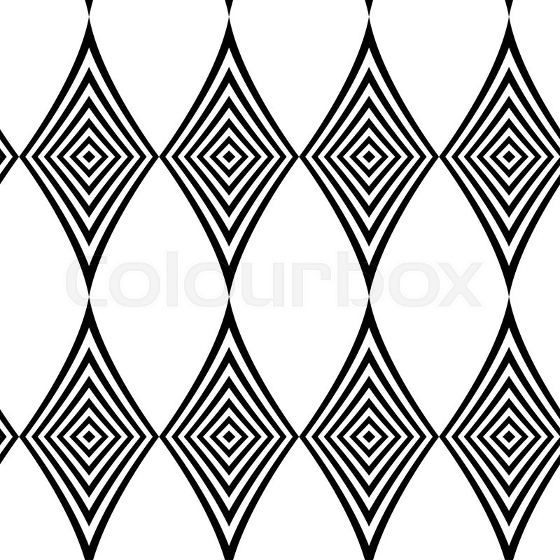Stock image of 'Seamless pattern. Modern stylish texture. Repeating geometric tiles with black and white striped rhombus. '