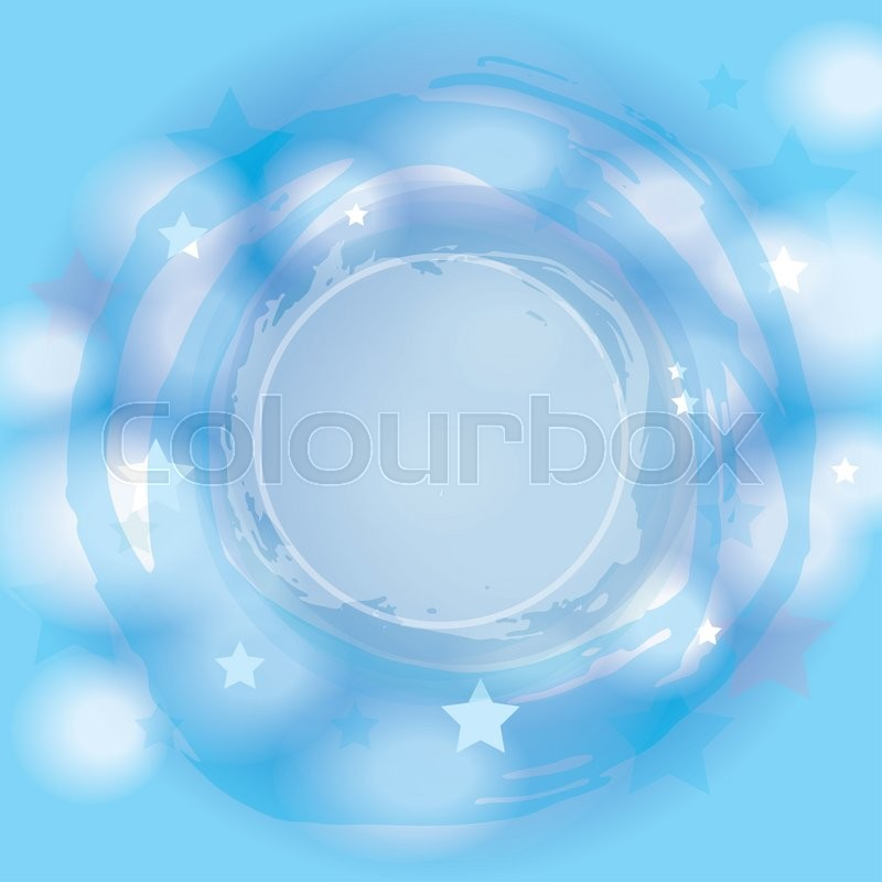 Stock image of 'Abstract blue background. Stars, clouds glitter. '