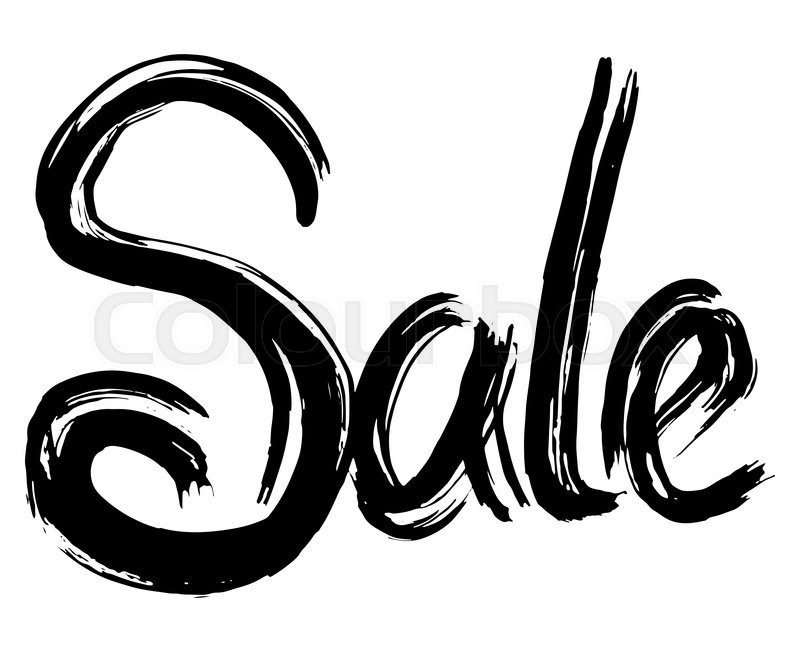 Stock image of 'Sale hand lettering. Handmade calligraphy.  grunge'