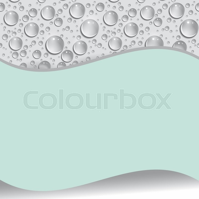 Stock image of 'Card with water drop.  illustration'