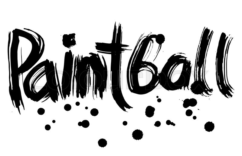 Stock image of 'Paintball hand lettering. Handmade calligraphy.  grunge'