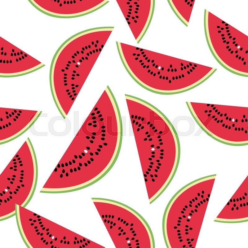 Stock image of 'Seamless pattern with watermelon on the white background. '