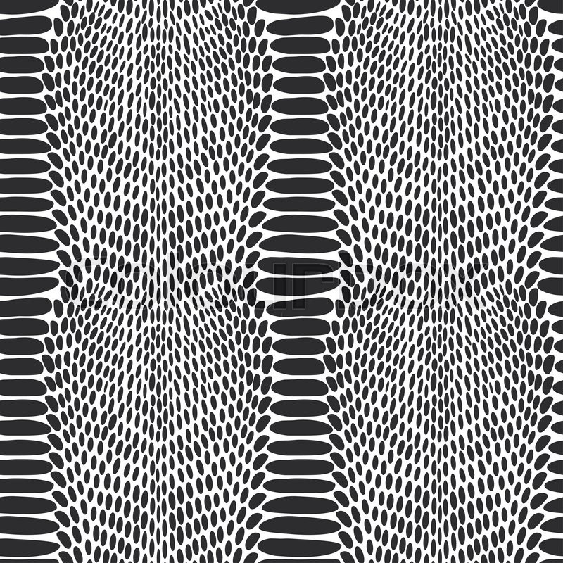 Stock image of 'Snake skin texture. Seamless pattern black on white background. '