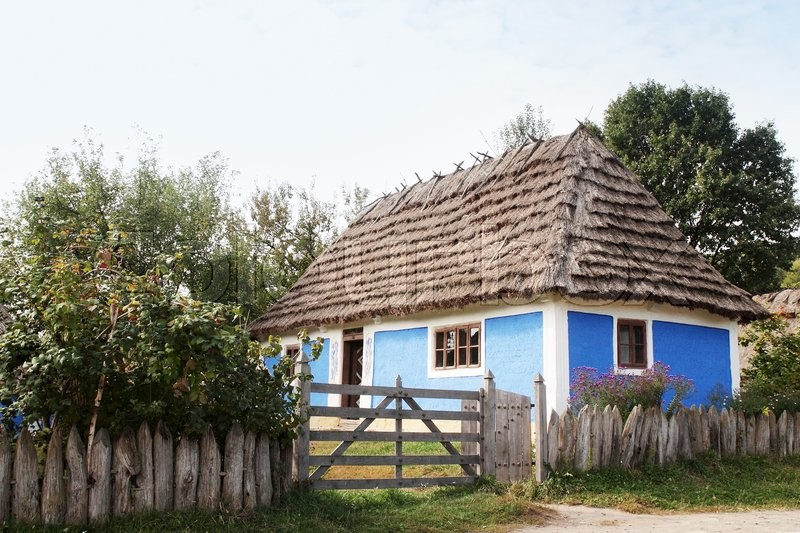 Stock image of 'Sample of old houses Ukraine in \
