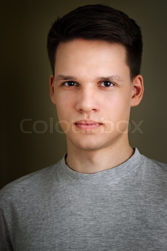Stock image of 'portrait of a young man close up'