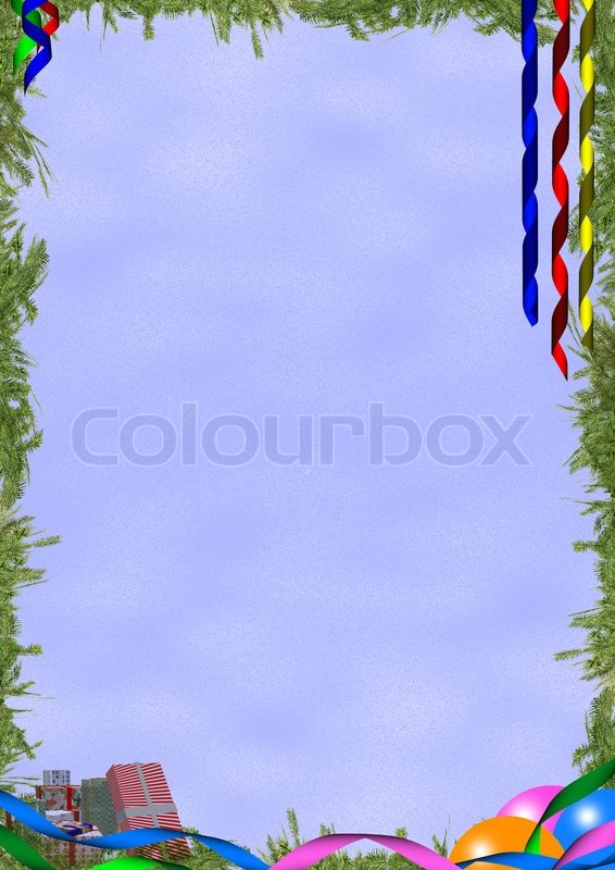 background on a theme christmas and new year with decorative elements fool size a4 stock photo colourbox