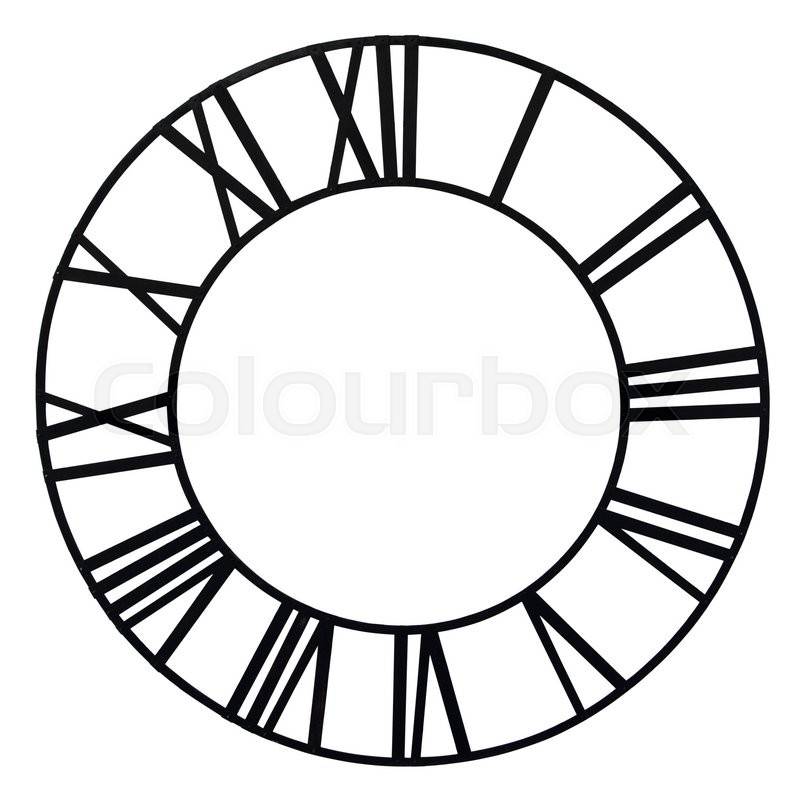 Stock image of 'The old church clock dial isolated on white background'
