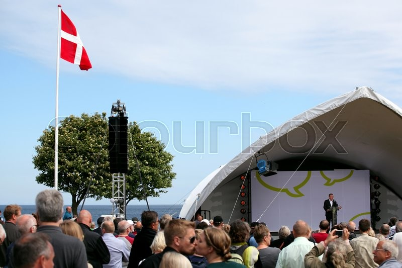 Editorial image of 'Lars Løkke Rasmussen at the main stage, Folkemøde 2015.'