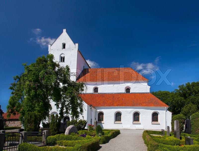Stock image of 'Image of the church at Dalby. This is the remenants of a large medieval monastery. Dalby, Lund, Sweden. '