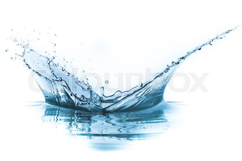 Stock image of 'water splash isolated on white background'