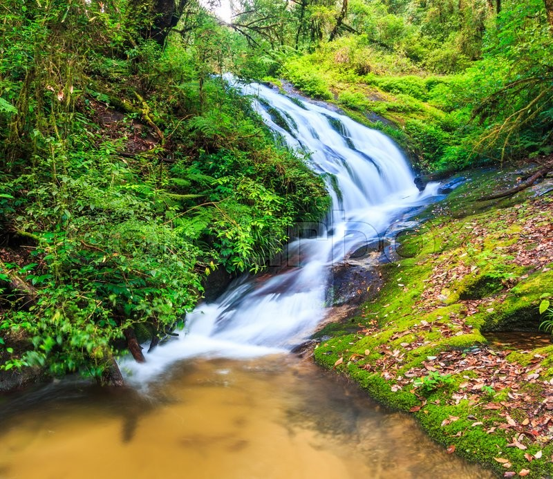 Stock image of 'Waterfall at Doi Inthanon National park in Chiang Mai Thailand'