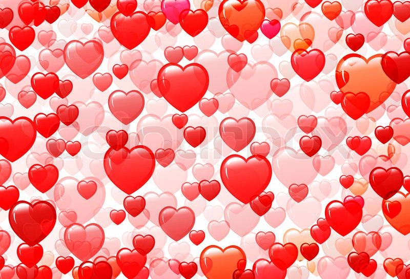 Background With Different Shades Of Red From The Hearts