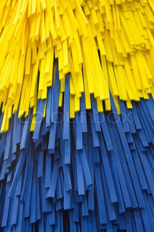 Car Wash Brush >> Blue And Yellow Car Wash Brush Stock Photo Colourbox