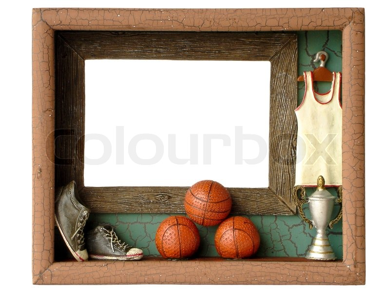 Photo frames Basketball isolated on a white background | Stock Photo ...
