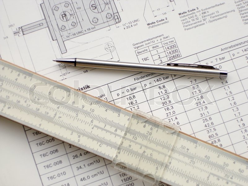 Technisches Zeichnen und Bleistift | Stockfoto | Colourbox