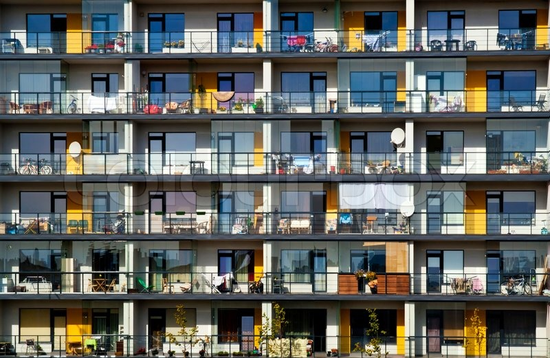 Charmant Stock Image Of U0027Windows And Balconies Of A Multiroom Apartment House Of  Mass Buildingu0027