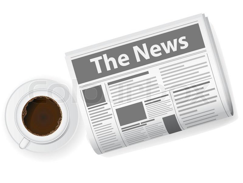 cup of coffee and newspaper vector illustration stock vector rh colourbox com newspaper victoria tx newspaper victoria texas