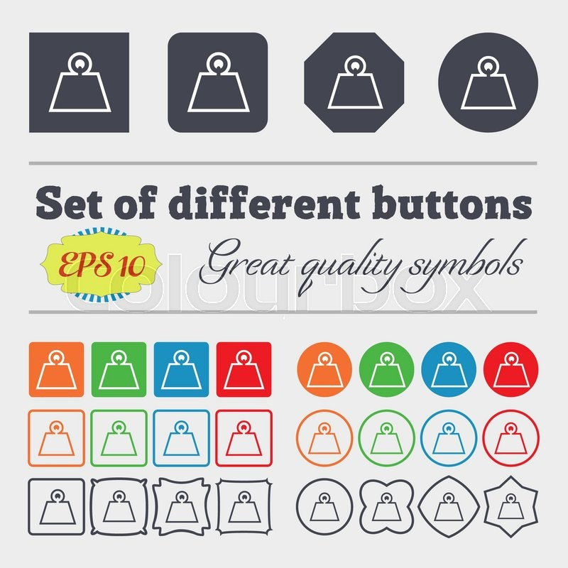 Weight icon sign  Big set of colorful,     | Stock vector
