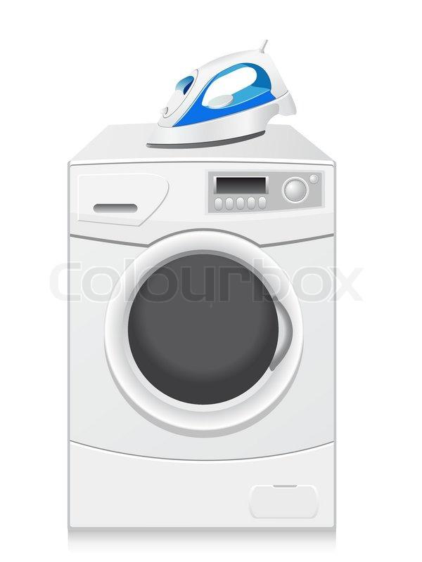 symbole sind eine waschmaschine und b geleisen vektor illustration vektorgrafik colourbox. Black Bedroom Furniture Sets. Home Design Ideas