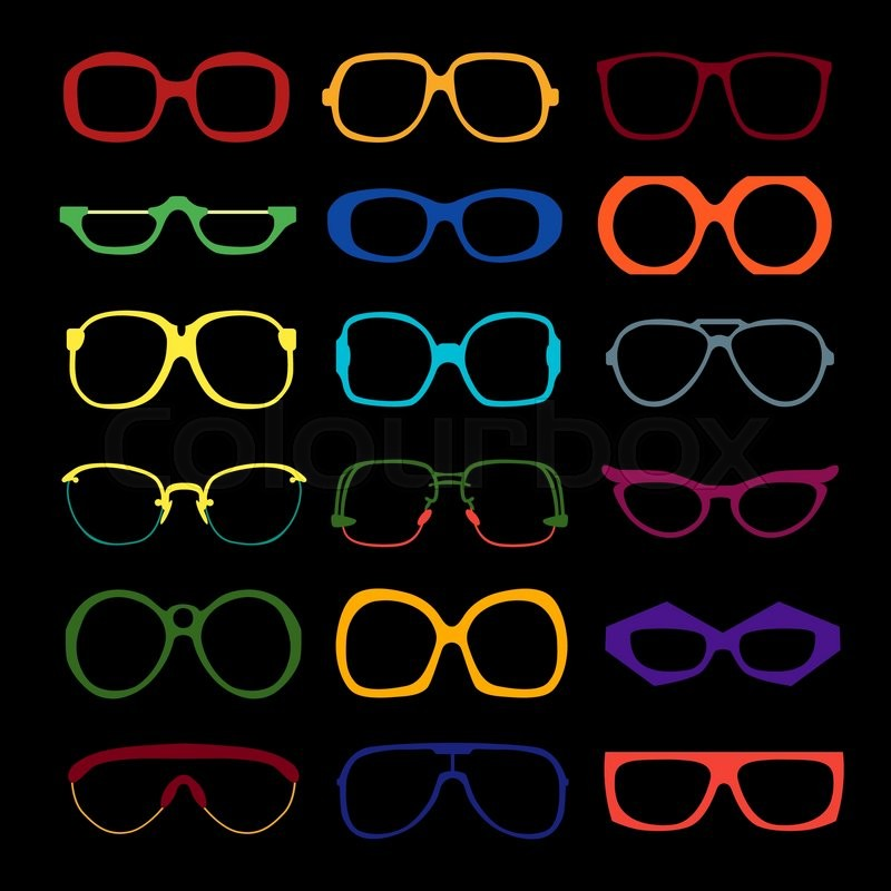 885834efff6 Vector set of different colored ...