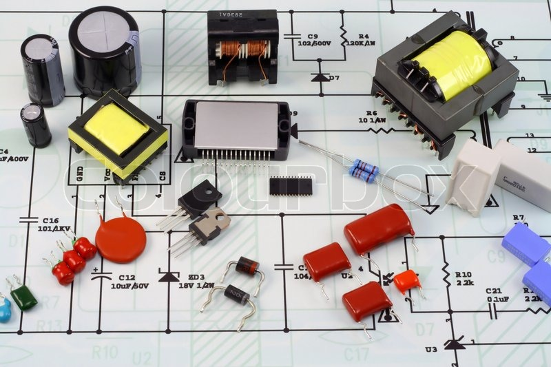 Electronic Component Parts : Electronic components and spare parts resistors