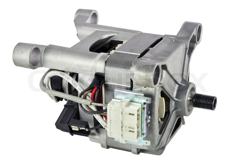 The old dirty used electric motor for a washing machine for Washing machine electric motor