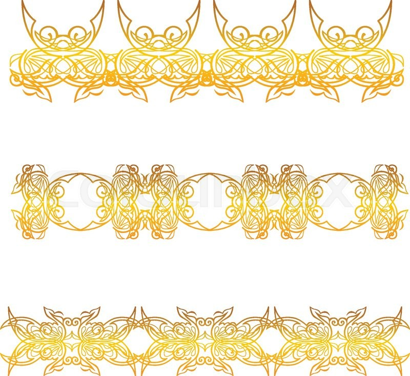 Gold Floral Border Pictures to Pin on Pinterest - PinsDaddy