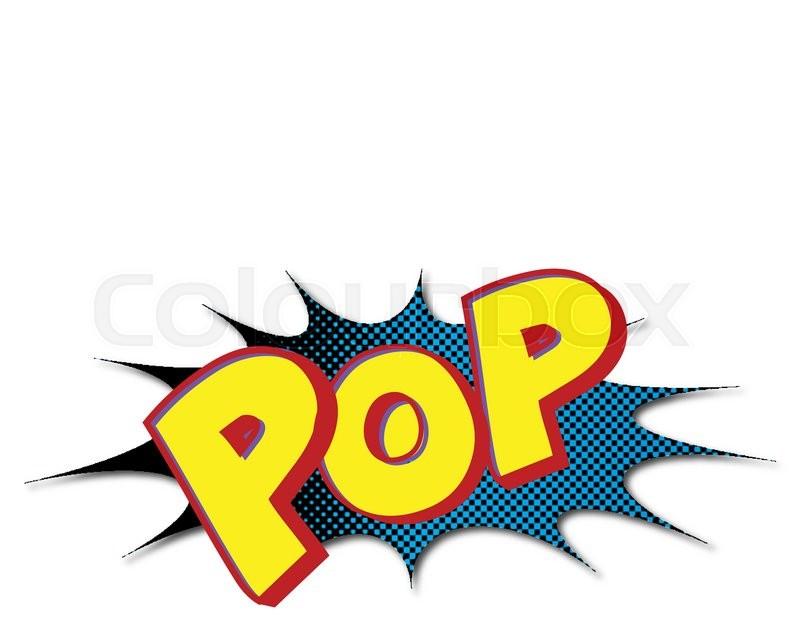 Cartoon explosion pop-art style | Stock Vector | Colourbox