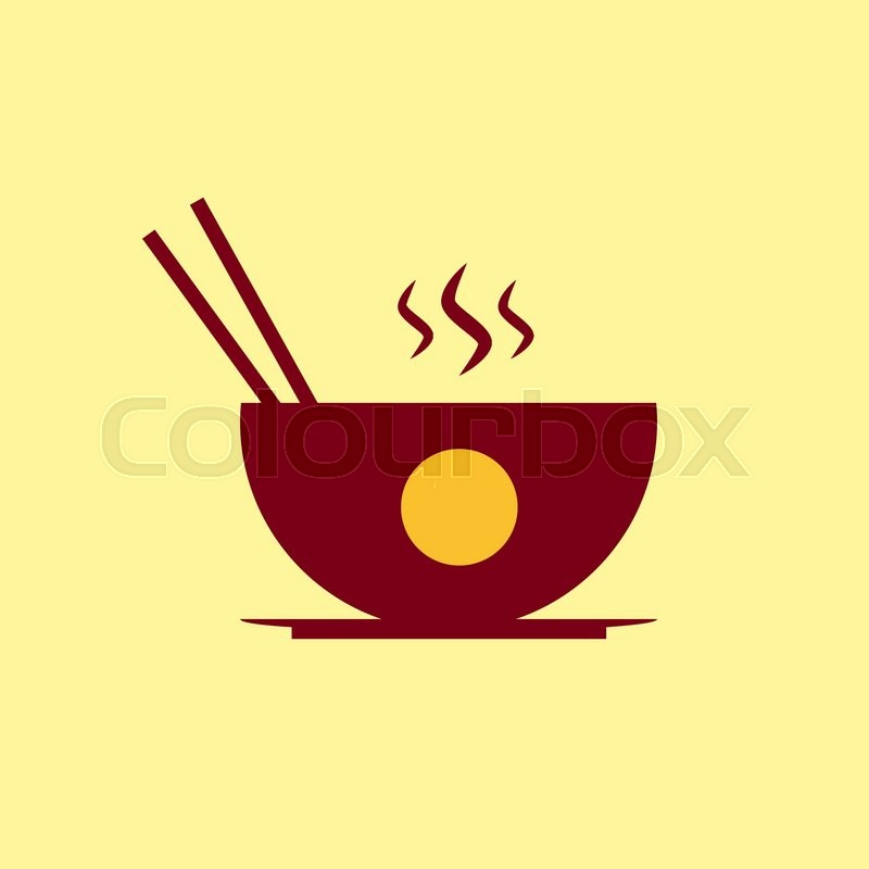 Fast Food Vector Icon Chinese Food Pictogram Stock Vector