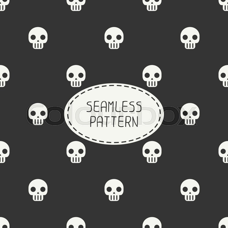 Geometric Hipster Seamless Pattern With Skulls And Bones Wrapping