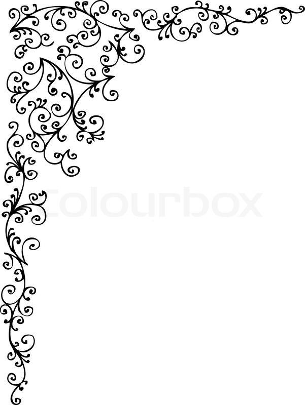 barocke gefrorenen vignette 68 eau forte schwarz wei dekorative hintergrundmuster vector. Black Bedroom Furniture Sets. Home Design Ideas