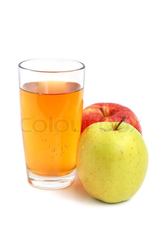 Apple White With Glasses Apple Juice in Glass And Fresh